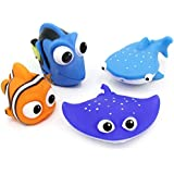 Yarr Store Kids Pool Toys, 4 Pcs Disney Finding Dory Nemo Baby Bath Squirt Toys for Kids Water Play Catch Game