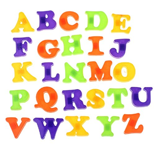 Oksale 26 Letters Baby Kids Plastic Cartoon A-Z Alphabet Fridge Magnet Learing Educational - Frame Nyc Menu