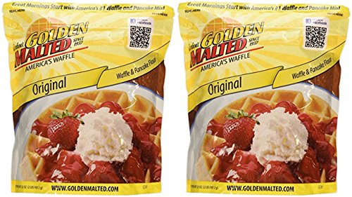 Carbon's Golden Malted Pancake & Waffle Flour Mix, Original, 32-Ounces (Pack of (Carbons Golden Malted Pancake)