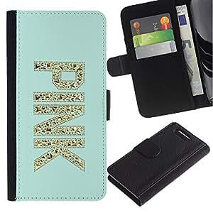 Supergiant (Pink Gold Glitter Bling Mint Green) Dibujo PU billetera de cuero Funda Case Caso de la piel de la bolsa protectora Para Sony Xperia Z3 Compact /D5803 / D5833