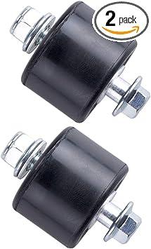 2Pcs YFZ 350 Chain Roller Guide Set 8mm For Yamaha Banshee 1987-2006 Black