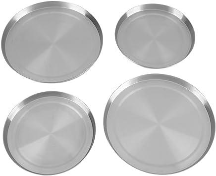 Haute Qualité 4 pièces en acier inoxydable Plaque Couverture Protecteur Couvercle Set
