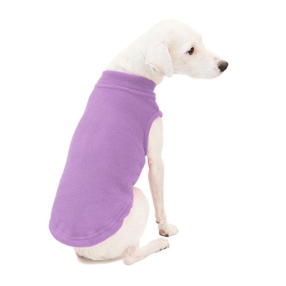 Gooby - Stretch Fleece Vest, Pullover Fleece Vest Jacket Sweater Dogs, Lavender, 2X-Large