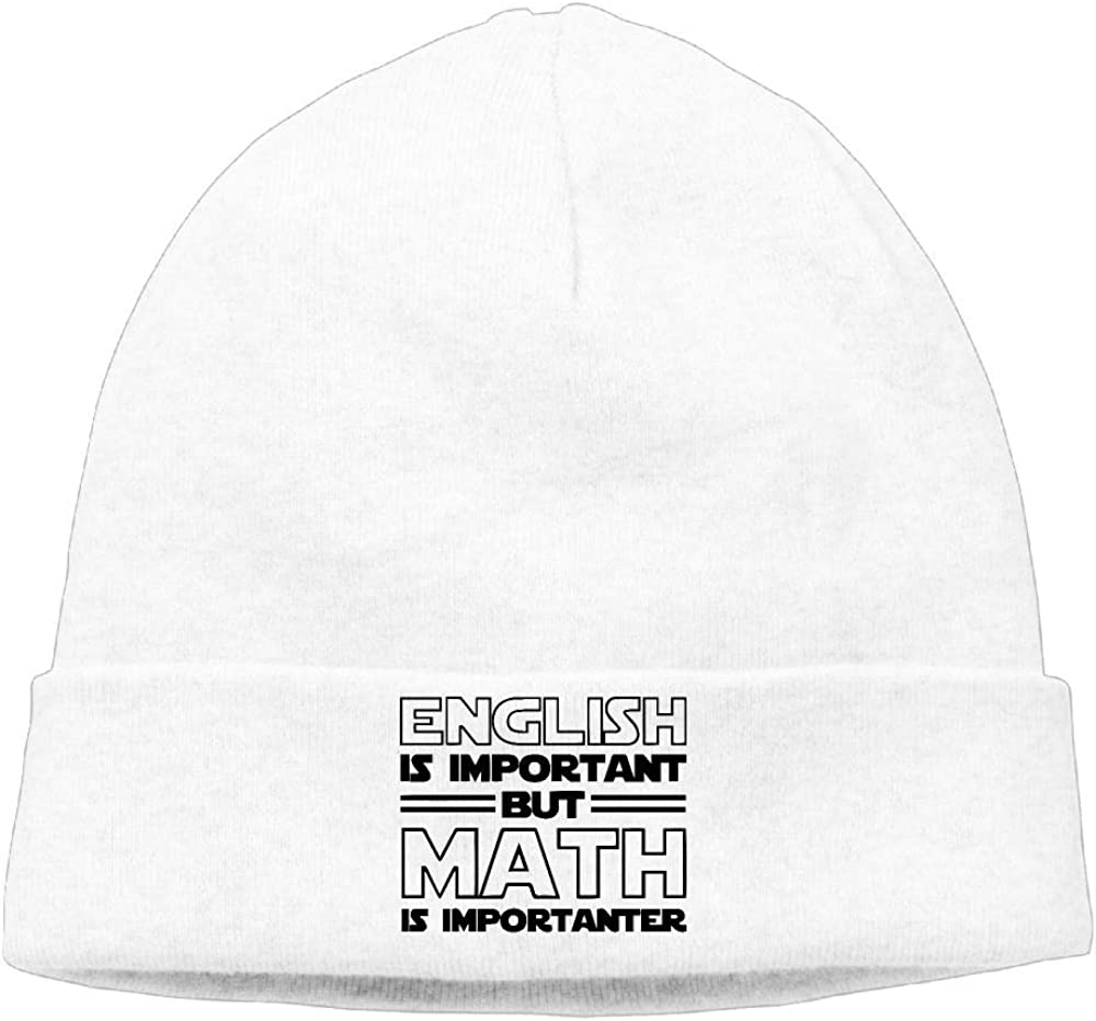 Cgi03T-2 Soft Knit Cap for Mens and Womens English is Important Beanie Hat