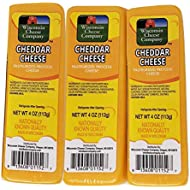 Wisconsin Cheese Company (6-4oz.) 100% Wisconsin Cheddar Cheese Packages | Great with Crackers |