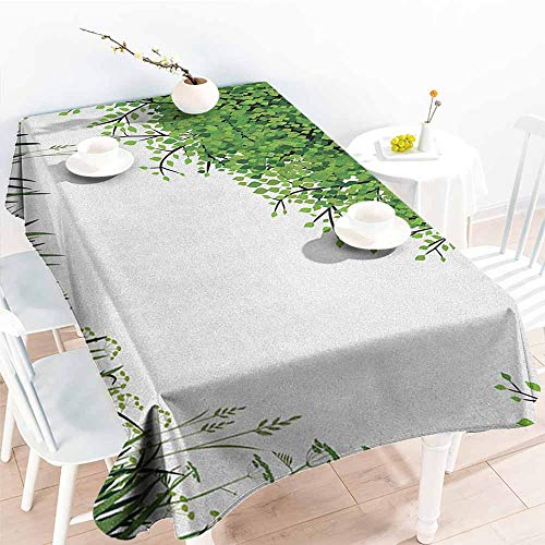 familytaste Nature,Table Cloth for Dinner Parties Tree Grass at Park Herbs Summer Season Eco Environment Mother Earth Image 54