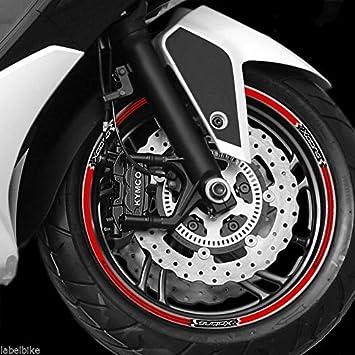 Tiras Adhesivo para Ruedas Compatible para Scooter Xciting 300-400-500 Kymco: Amazon.es: Coche y moto