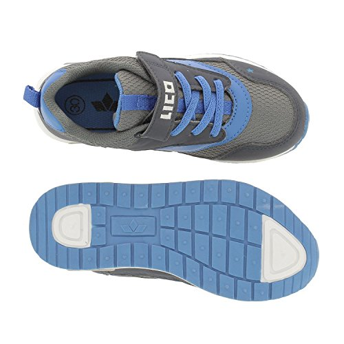 Lico Cool VS - Zapatillas de material sintético para niño gris oscuro/azul