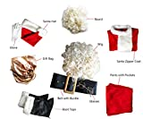 Orolay Mens Deluxe Santa Suit 10pc. Christmas Adult Santa Claus Costume