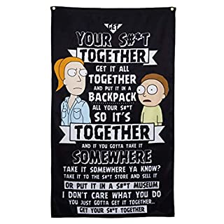 "Calhoun Rick and Morty Indoor Wall Banner (30"" by 50"") (Morty Rant)"