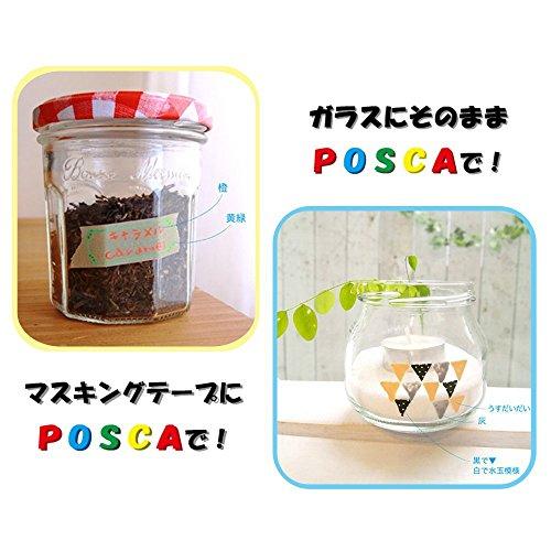 Uni Posca Paint Marker FULL RANGE Set , Mitsubishi ALL Natural & Dark , Gold & Silver Pen Medium Point 29 Color (PC-5M), Original Plastic Box by Uni Posca (Image #6)