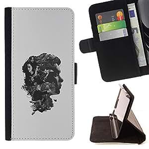 Momo Phone Case / Flip Funda de Cuero Case Cover - Los pensamientos del cerebro;;;;;;;; - Samsung Galaxy E5 E500