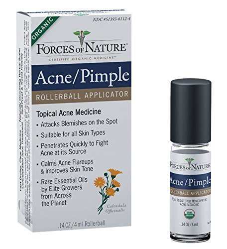 Forces Of Nature Acne Pimple Control Rollerball, 4 Ml