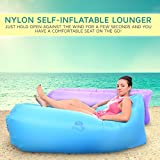Blue Crush Self Inflatable Beach and Pool Lounger by EazeUp