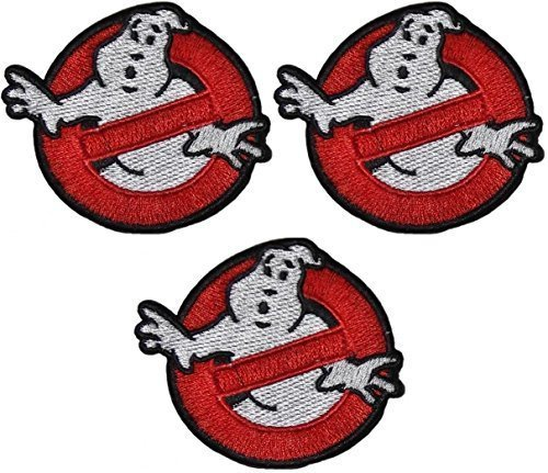 Ghostbusters NO GHOSTS Logo SET OF 3 Embroidered 2 3/4