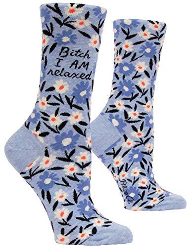 Blue Q Bitch I AM Relaxed Crew Socks, Women