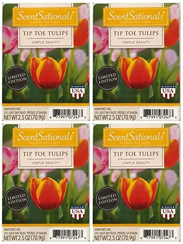 Candle Tulip Wax - ScentSationals Tip Toe Tulips Scented Wax Cubes - 4-Pack