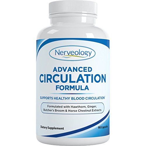 Nerveology Advanced Circulation Formula - Supports Healthy Blood Circulation - 90 Capsules 1 Month Supply by Nerveology