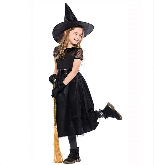 Azly-Cloth Disfraz de Bruja de Halloween Vestido de Gasa Negro 4 ...