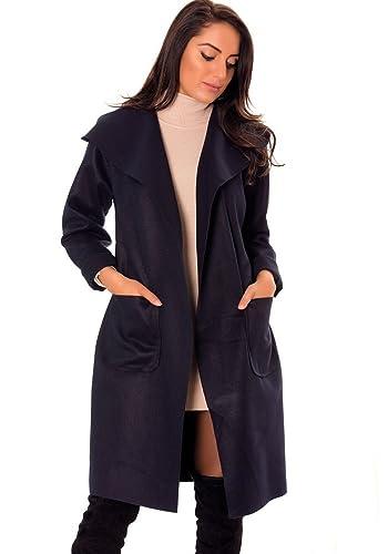 dmarkevous – Abrigo – Gabardina – Básico – para mujer azul marino Talla única