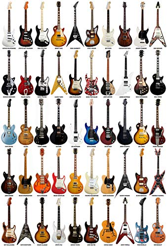 Zapista Guitar Legends Art Print Rock Music Guitarist Poster Musician Gifts Home Decor Unframed (16.25