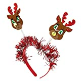 Claire's Girl's Reindeer Deely Bopper Headband - Red