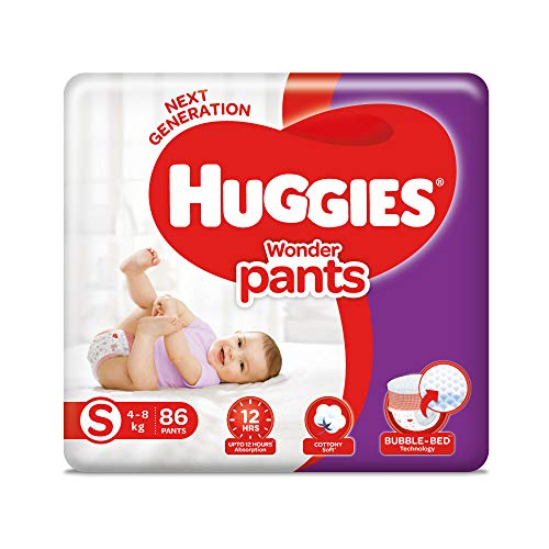 Huggies Wonder Pants Diapers Small Size 86 Pieces at best price