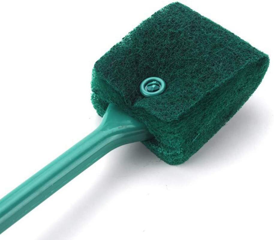 3 PCS Double-Sided Aquarium Fish Tank Algae Cleaning Brush with Non-Slip Handle, Sponge Scrubber Cleaner for Glass Aquariums and Home Kitchen 2 PCS