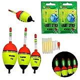 THKFISH Fishing Floats, 5pcs 5g 15g 30g 40g Foam Freshwater Saltwater Fishing Floats Bobber Slip Tube Kit