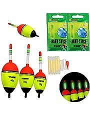THKFISH® Fishing Floats, 5g 15g 30g 40g Espuma de agua dulce de pesca de agua salada Bobber Slip Tube Kit 5Pcs Pack