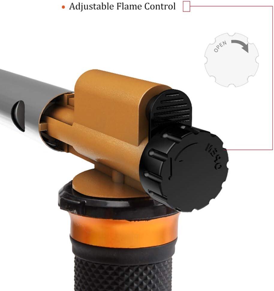 LEXIVON Kit multiprop/ósito soldador de butano Pro Grade Equivalente de 125 vatios Juego de 7 puntas de llama ajustable con autoencendido inal/ámbrico LX-770