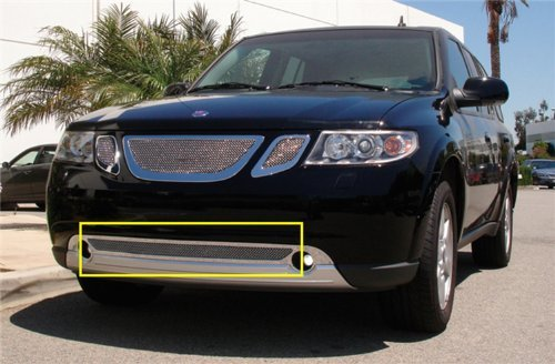 T-Rex 55305 Upper Class Mesh Polished Stainless Steel Bumper Grille Insert ()