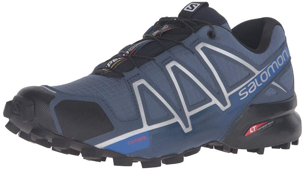 Salomon Men's Speedcross 4 Trail Runner, Slate Black/Blue Yonder, 7 D US by Salomon (Image #7)