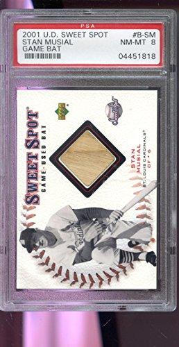 2001 Upper Deck Sweet Spot Stan Musial Game-Used Bat Baseball Graded Card PSA -