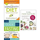 img - for Longevity diet, complete guide to fasting and healthy medic food for life 3 books collection set book / textbook / text book