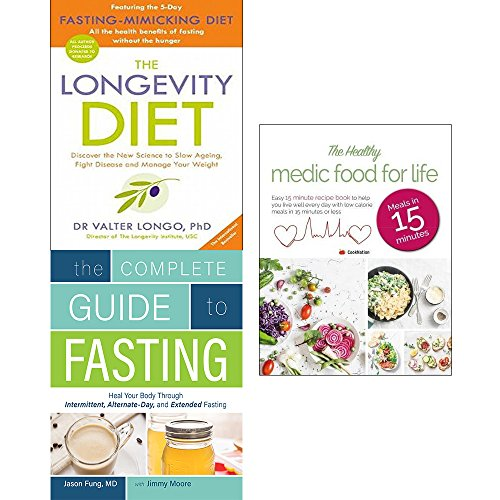 51oPeGU5jxL - Longevity diet, complete guide to fasting and healthy medic food for life 3 books collection set
