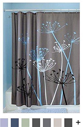 Interdesign Thistle Shower Curtain Standard Gray And