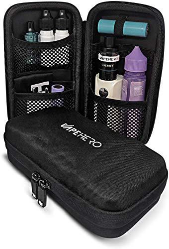 VapeHero® L E-Zigarette Tasche   Dampfer Etui für max. 80ml Liquid und Zubehör   Passend für große Mods   Stoßfest…