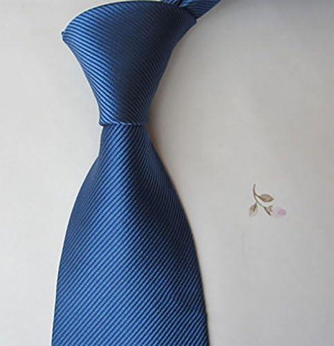 LINGDAI Hombres Vestido Formal Negocios Seda Tie Cremallera ...