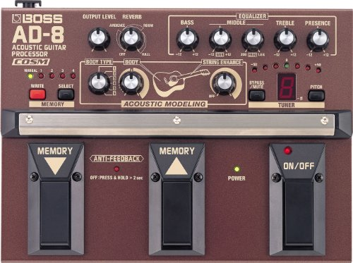 Acoustic Guitar Processor (Boss AD-8 Acoustic Guitar Processor w/Bonus PVP-101 Variety Pick-Pack (x12) 761294082331)