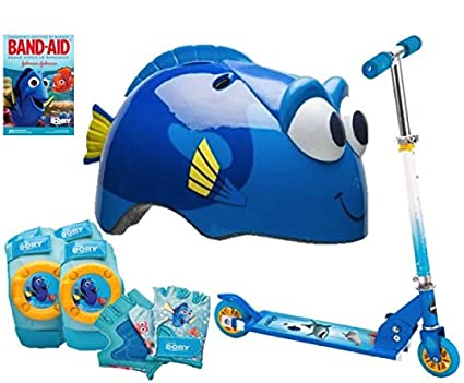 Dory patinete de dos ruedas (10 PC Set, casco, rodilleras ...