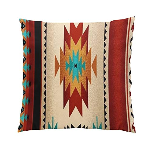 (Gygarden Plush Square Tribal Fabric Print Brown Hue Hidden Zipper Home Sofa Decorative Throw Pillow Cover Cushion Case 20x20 Inch Two Sides Design Printed Pillowcase)