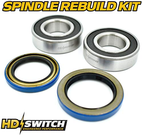 HD Switch John Deere Spindle Rebuild Kit M169375 Includes 2 Bearings, Upper & Lower Seals Compatible with John Deere