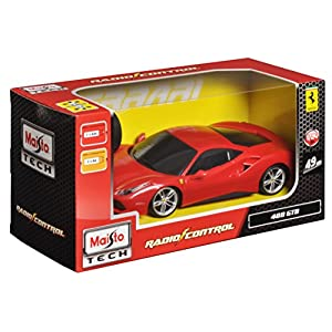 Maisto R/C 1:24 Scale Ferrari 488 GTB Variable Color Radio Control Vehicle (Colors May Vary)