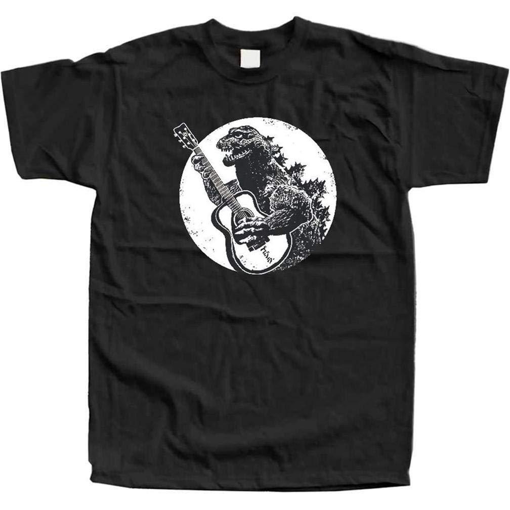Dinosauro Chitarra S T Shirt Printing Short Sleeve Tee