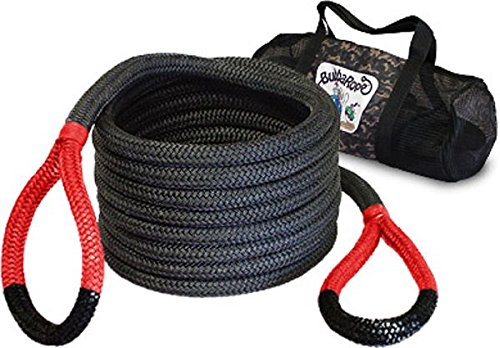 Bubba's Kinetic Snatch Rope with Carry Bag – 7/8 inch X 30 ft (22mm x 9m long) (VEHICLE RECOVERY)