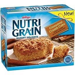 Nutrigrain Bars,Bakery Delights, Cinnamon Crumb Cake 7 oz ( 2 Pack)