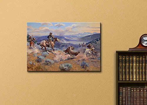 Loops and Swift Horses are Surer Than Lead by Charles Marion Russell Print Famous Painting Reproduction