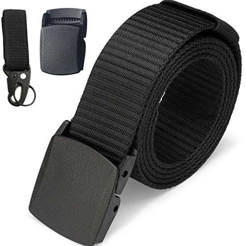 Dragon Ninja Tactical Belt Nylon Canvas Web Military style 1.5in with MOLLE Key ring