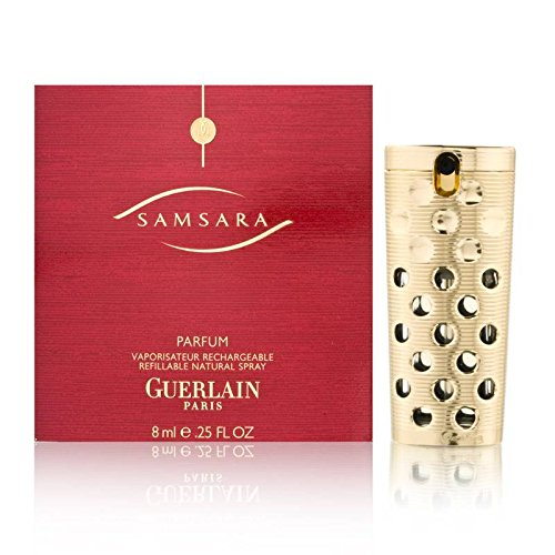 Samsara by Guerlain for Women 0.25 oz Parfum Classic Spray Rechargeable